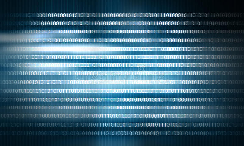 Binary code. Conceptual background image with binary code. Safety concept stock photo