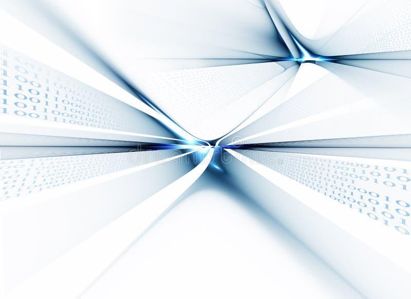 Binary code data flow, communication. Internet concept, binary code data flow, communication