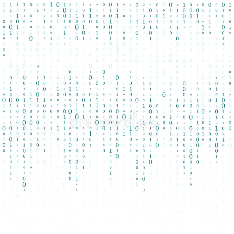 Abstract Matrix Background. Binary Computer Code. Coding. Hacker concept. Vector Background Illustration vector illustration
