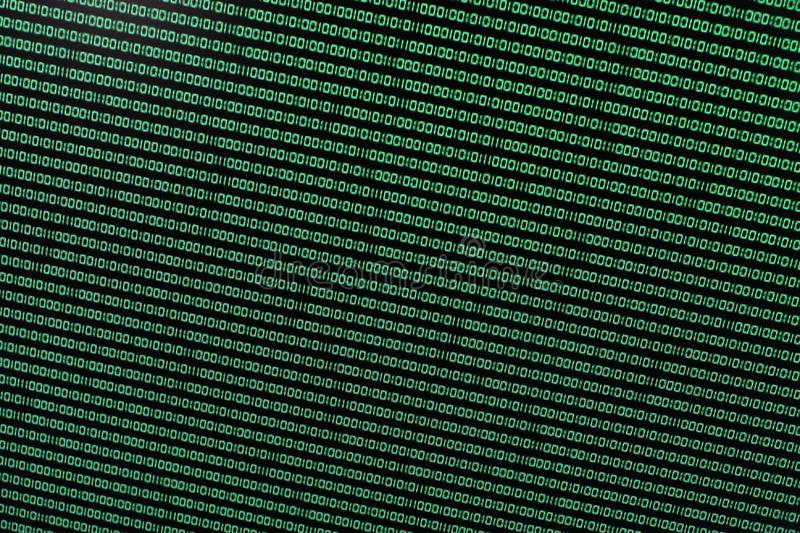 Binary Code in Green on TFT stock images