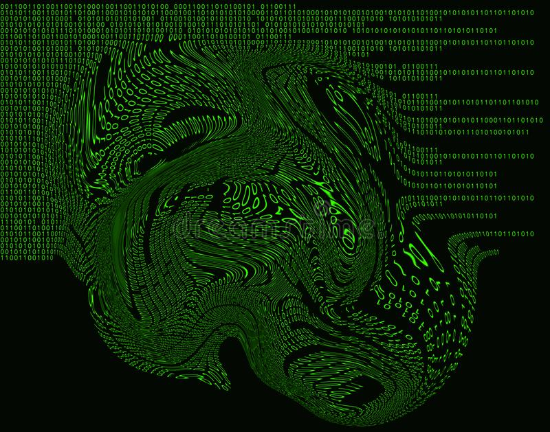 Binary Code Hacker Attack virus trippy royalty free stock image