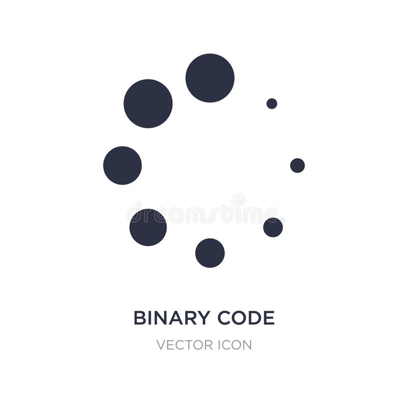 Binary code loading icon on white background. Simple element illustration from UI concept. Binary code loading sign icon symbol design vector illustration
