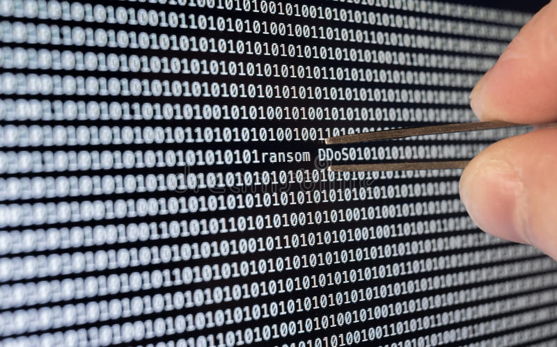 Binary Code royalty free stock photography