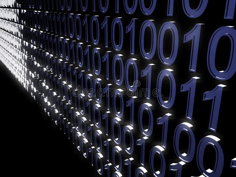 Binary Code Tunnel Stock Photo