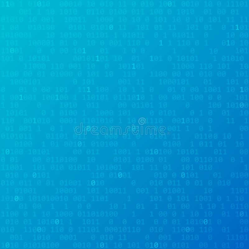 Binary code. Vector technology background with zero and one. Binary code. Vector blue technology background with zero and one vector illustration