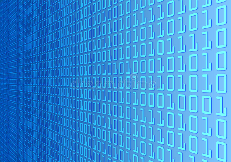 Binary code wall vector illustration