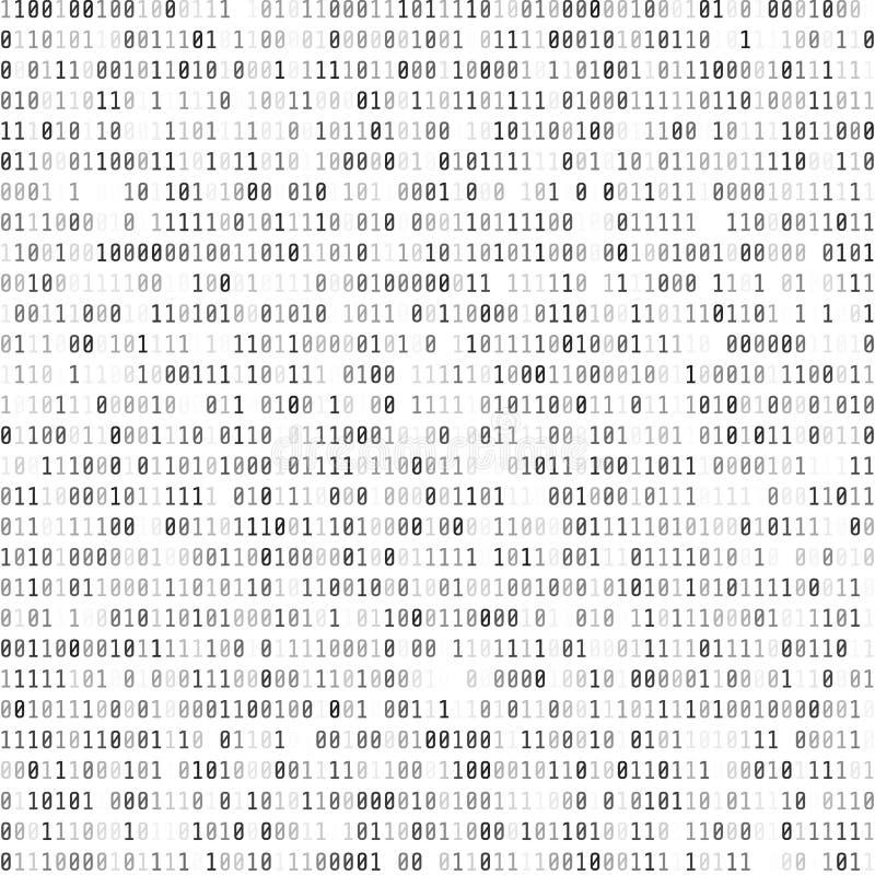 Binary Computer Code. Digital Data Stream. Abstract Matrix Background. Cyber security. Hacker concept. Vector stock illustration