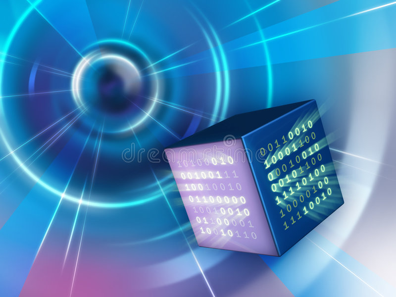 Download Binary cube stock illustration. Image of concept, data - 6300991