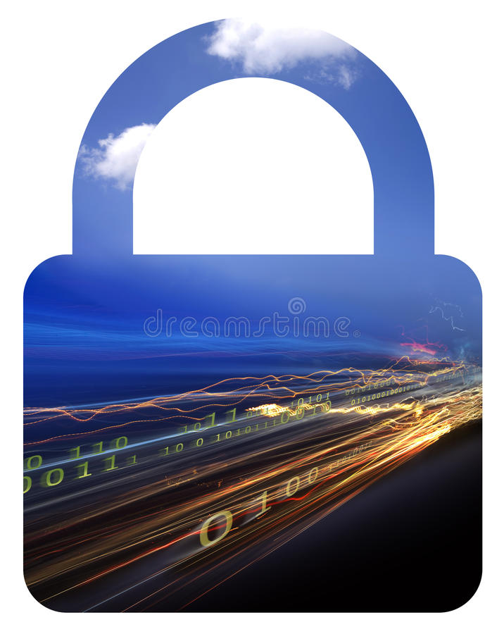 Download Binary data & lock stock illustration. Illustration of focus - 15306309