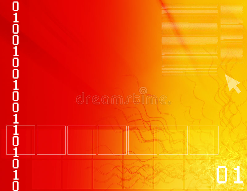 Binary dream stock illustration