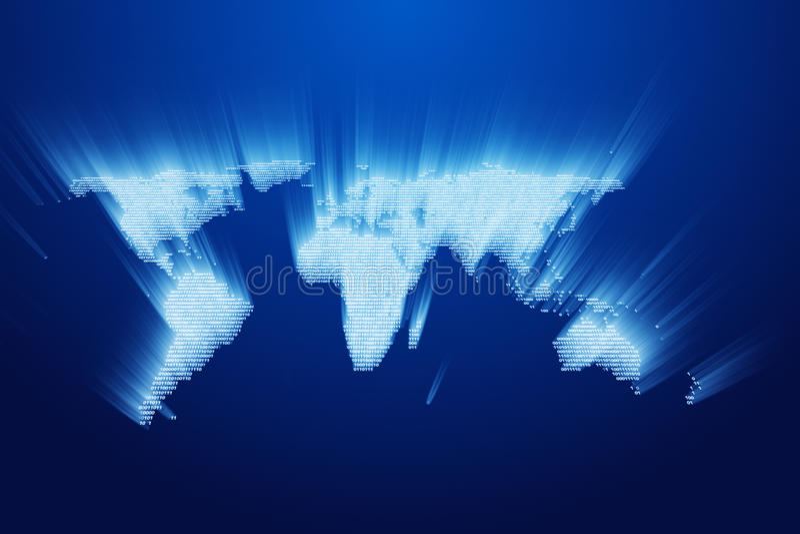 Binary Earth Stock Photo