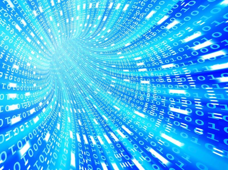 Binary futuristic tunnel vector illustration