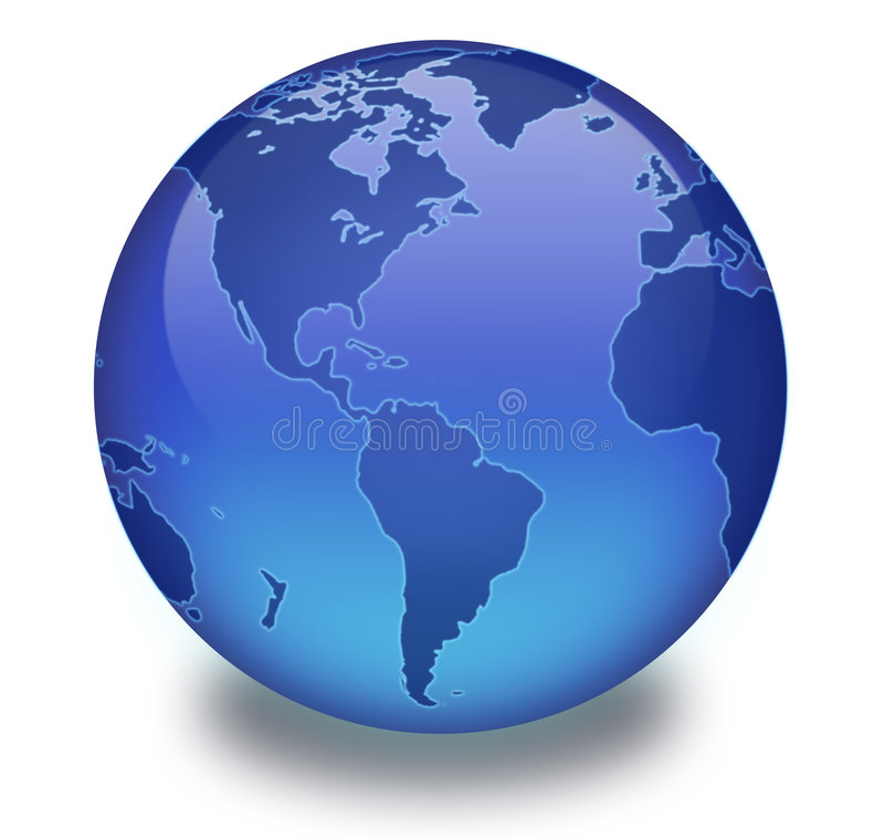 Binary Globe with White Background royalty free stock photo