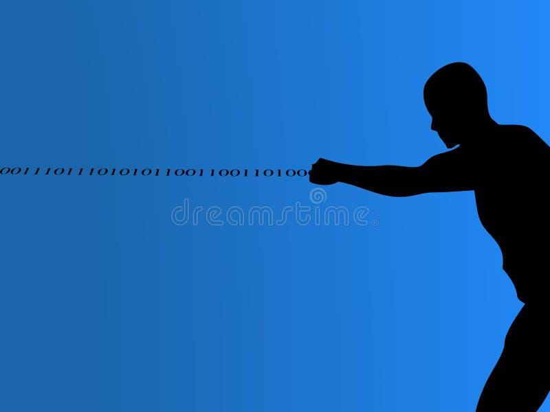 Binary Man royalty free illustration