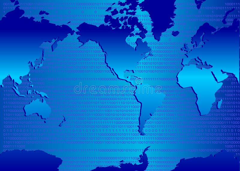 Download Binary map stock illustration. Image of canada, connectivity - 1506042