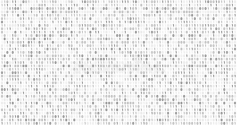 Binary matrix code. Computer data stream, digital security codes and gray coding information abstract vector background vector illustration