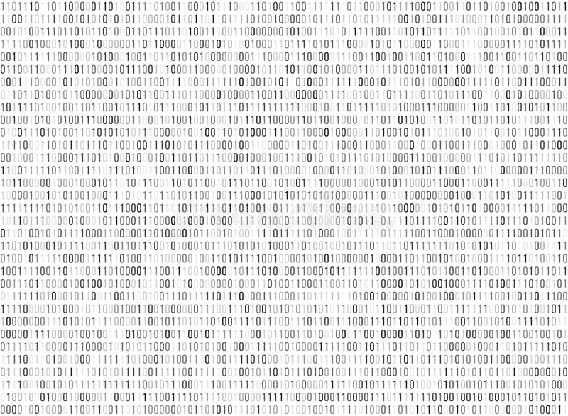Binary matrix computer data code vector seamless background vector illustration