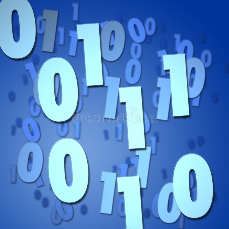 Binary numbers stock illustration