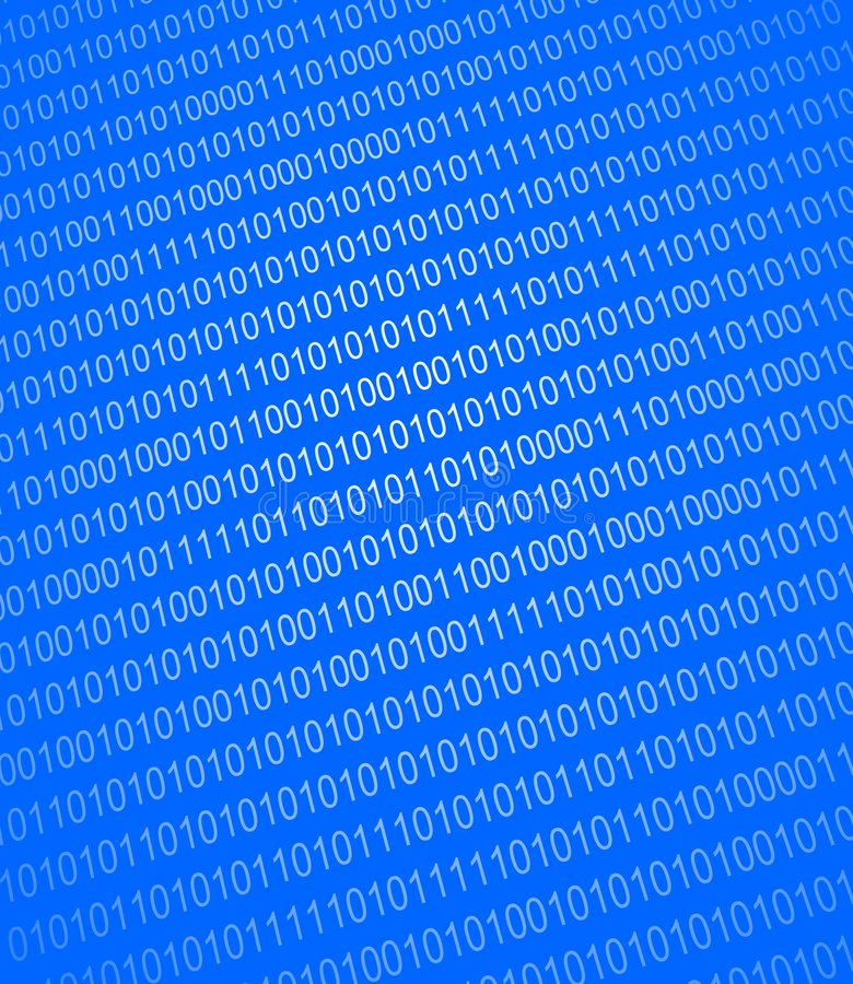 Binary numbers background royalty free illustration