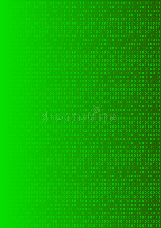 Binary numbers background vector illustration