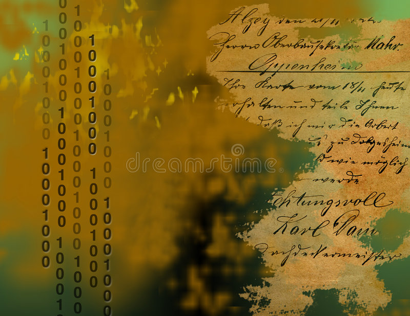 Binary and Old World stock illustration