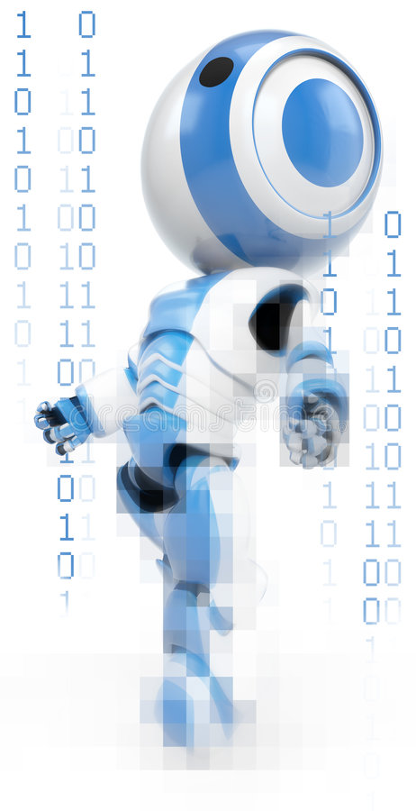 Download Binary Robot stock illustration. Image of standing, graphic - 8198342