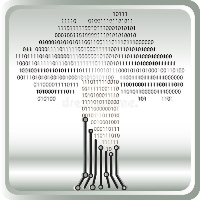 Binary tree vector illustration