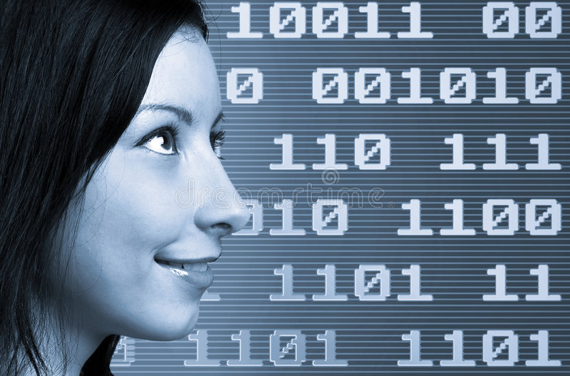 Binary Woman Royalty Free Stock Photography