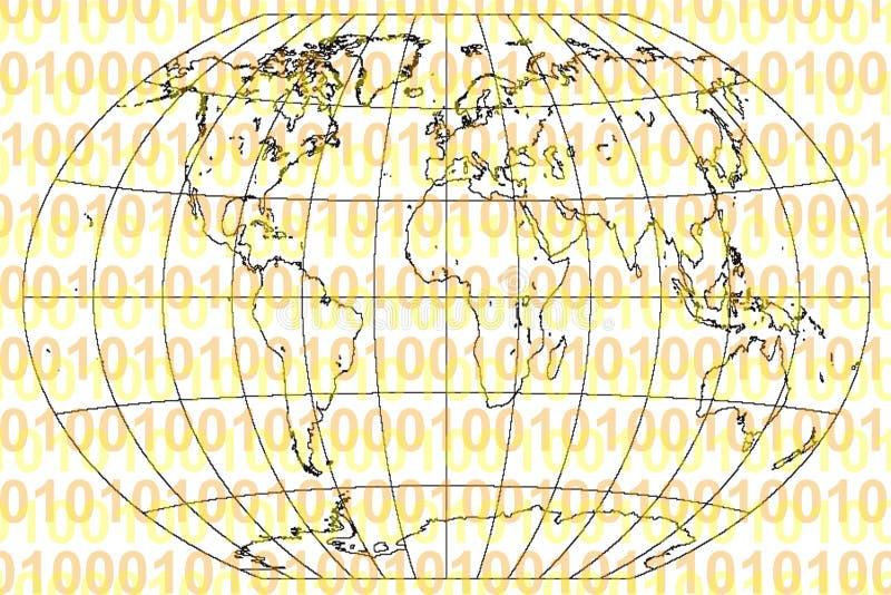 Download Binary World stock illustration. Illustration of technical - 108044