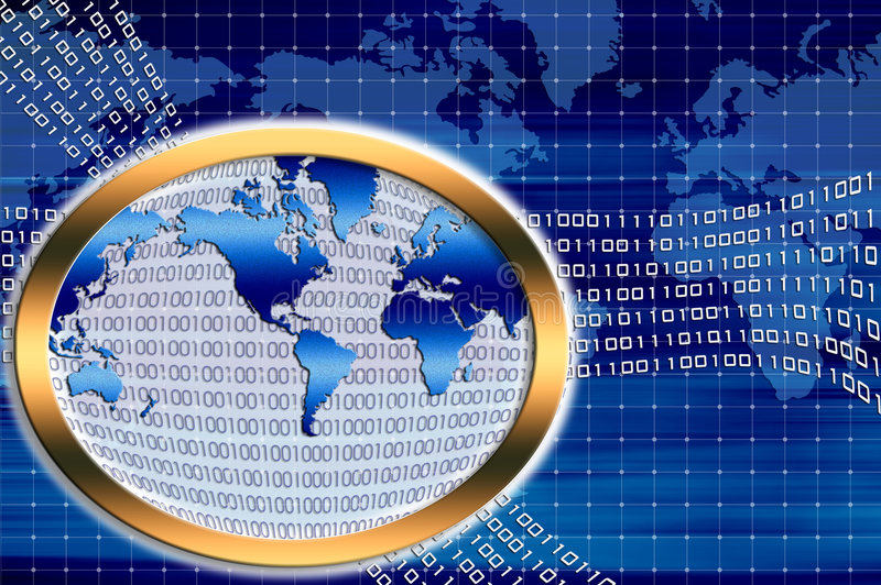 Binary world stock illustration