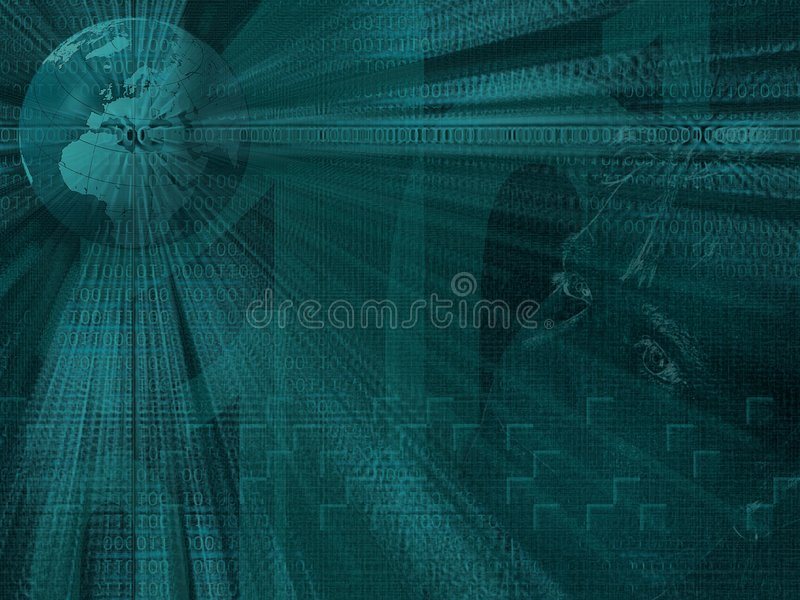 Download Binary world stock illustration. Image of conceptual, future - 414200