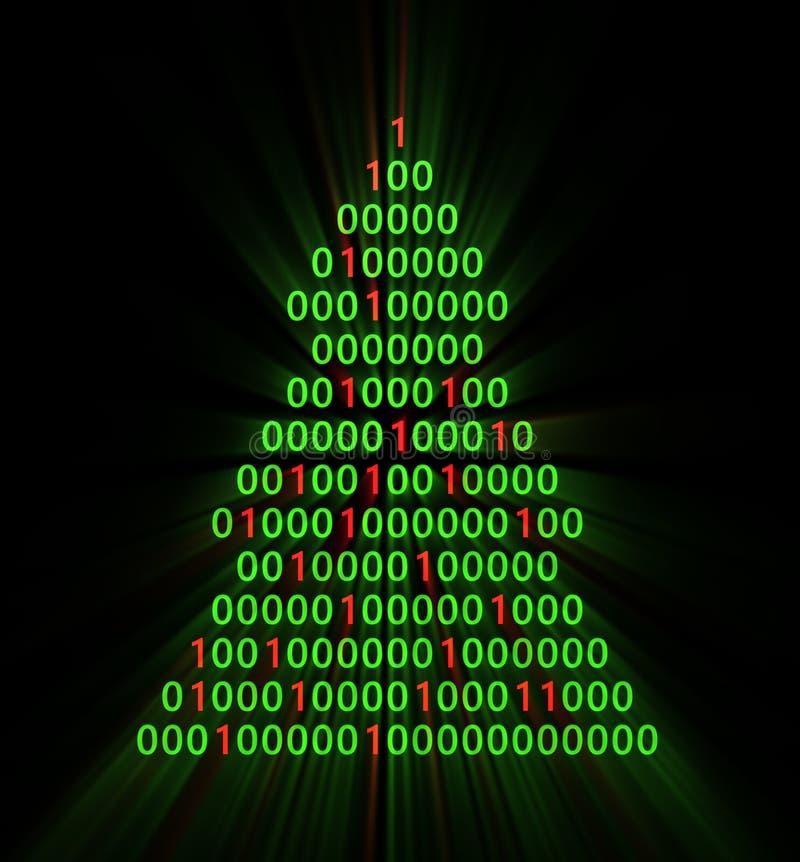 Binary xmas tree stock illustration