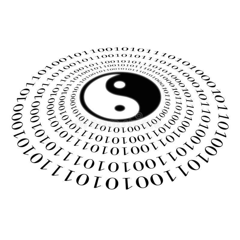 Download Binary yin and yang stock illustration. Illustration of binary - 2774912