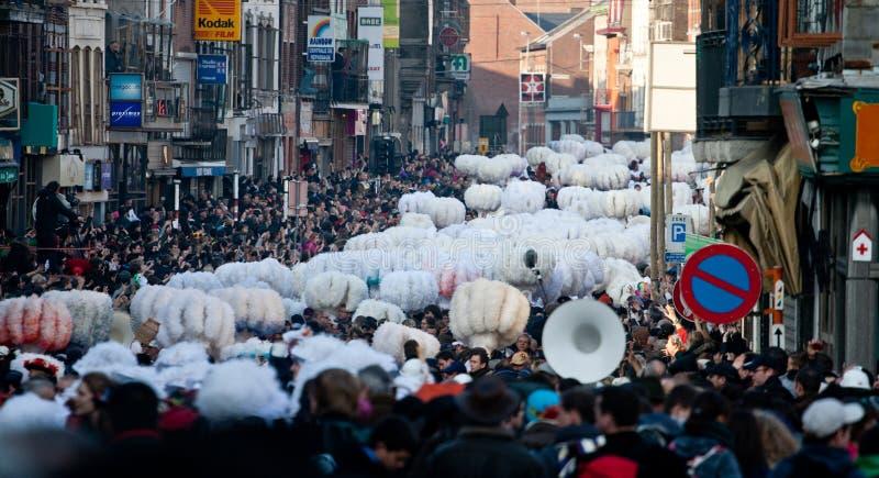 binche carnaval de стоковое фото