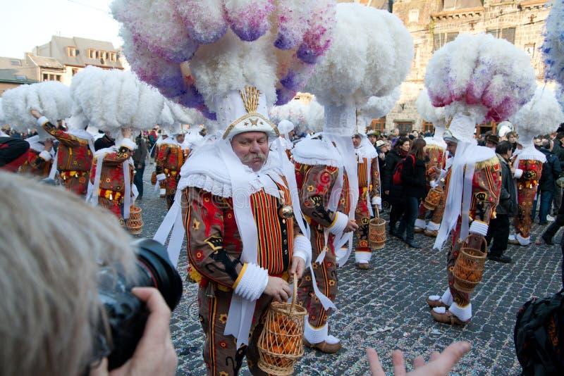 binche carnaval de стоковая фотография