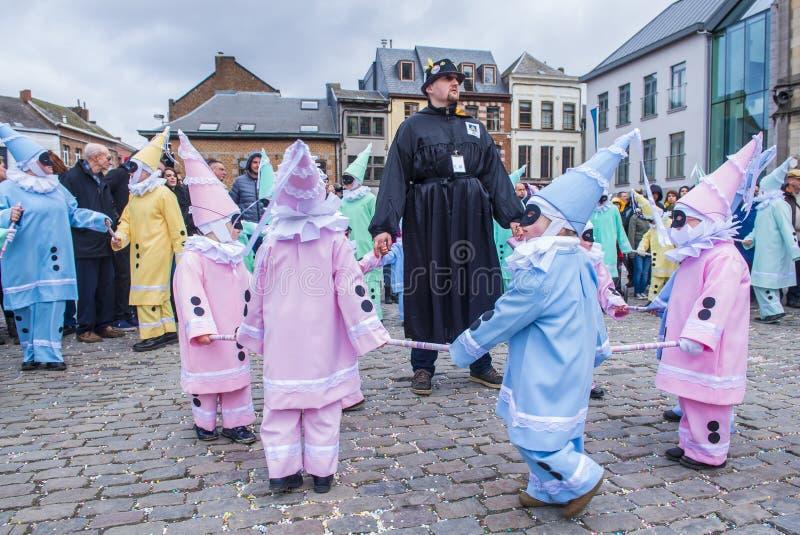 2017 Binche karnawał obrazy stock