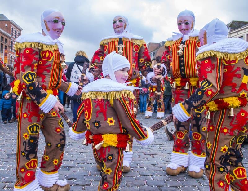 2017 Binche karnawał zdjęcia royalty free