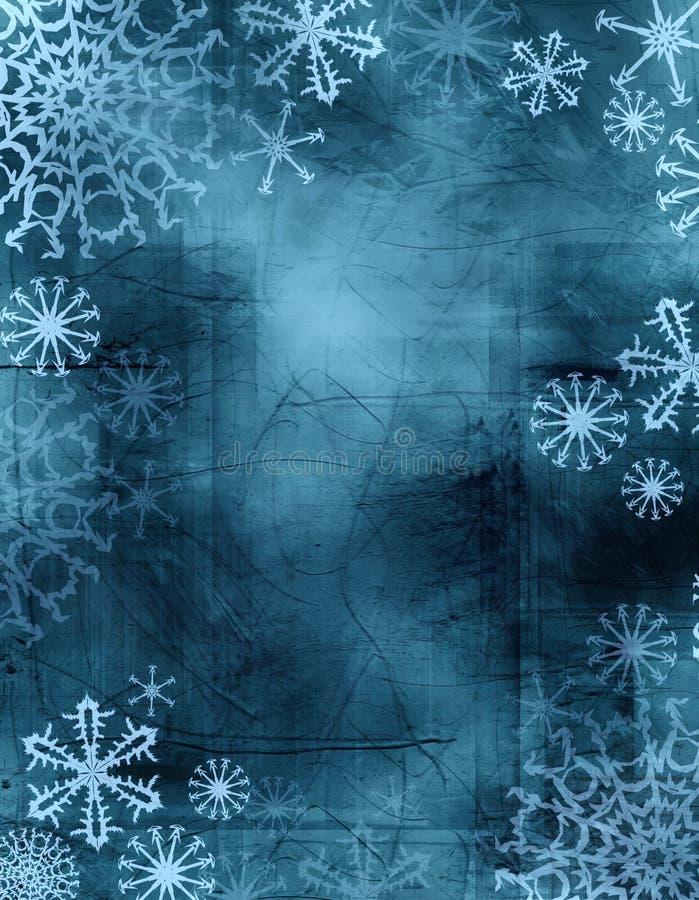 Binden-färben Sie Schneeflocken lizenzfreie abbildung