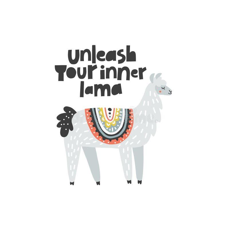 Binden Sie Ihr inneres Lama los lizenzfreie abbildung