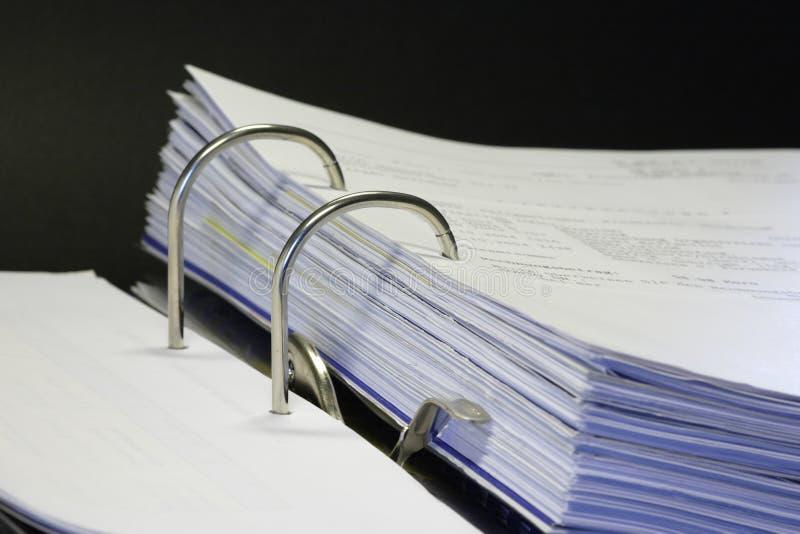 binder 01 otwarte zdjęcie stock