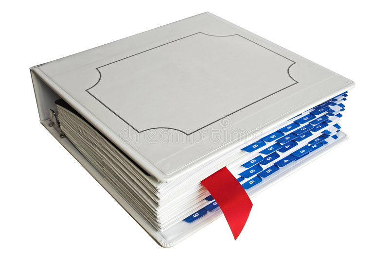 Binder with bookmark royalty free stock image