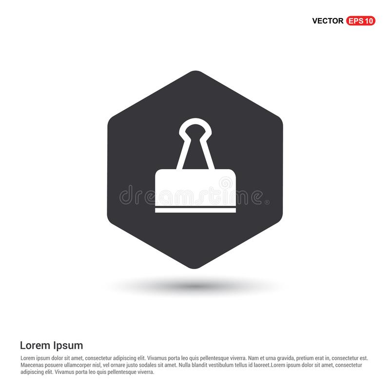 Binder Clip icon. This Vector EPS 10 illustration is best for print media, web design, application design user interface and infographics with well composed stock illustration