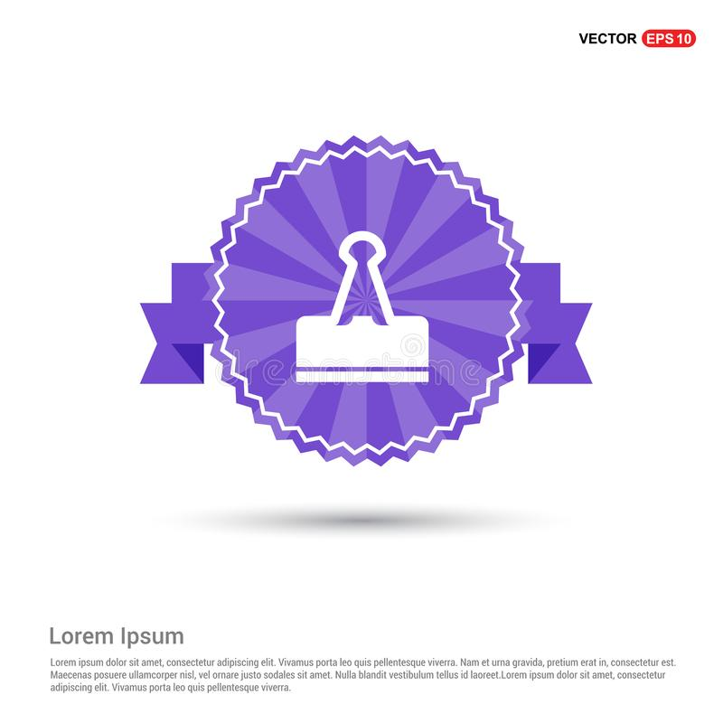 Binder Clip icon - Purple Ribbon banner. This Vector EPS 10 illustration is best for print media, web design, application design user interface and stock illustration