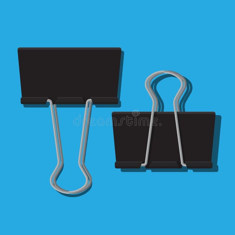 Binder clip icon vector illustration. Binder clip icon vector flat design royalty free illustration