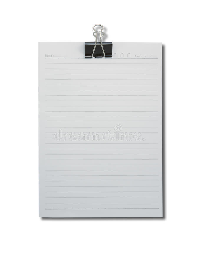 Download Binder Clip And Stack Of Paper Stock Photo - Image of copy, documents: 39510656