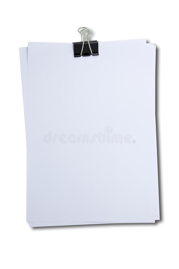 Download Binder Clip And Stack Of Paper Stock Photo - Image of isolate, information: 39510756