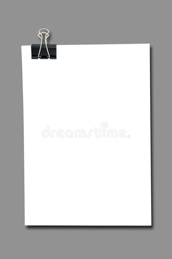 Download Binder Clip And Stack Of Paper Stock Image - Image of clip, notebook: 39512287