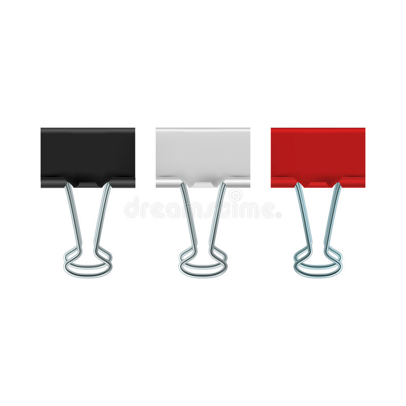 Binder clips icon, realistic style. Binder clips icon in realistic style on a white background vector illustration