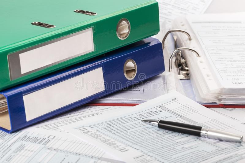 Binder. Standard law documents file regulation red royalty free stock photo