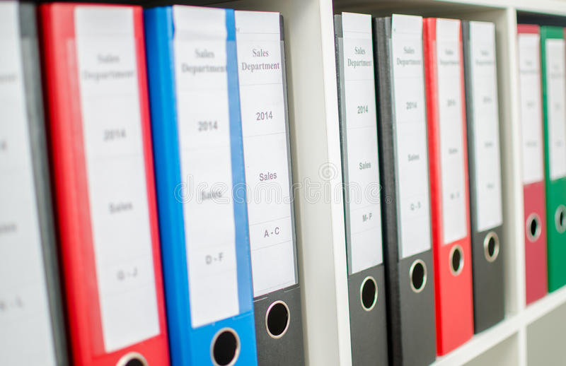 Binders royalty free stock images